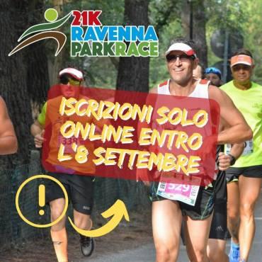 RAVENNA PARK RACE, ISCRIZIONI SOLO ONLINE ENTRO L'8 SETTEMBRE