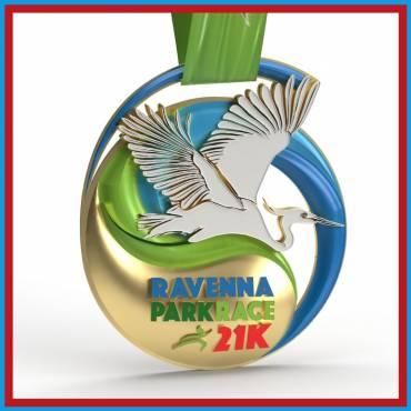 La nuova medaglia di Ravenna Park Race per l'edizione 2021